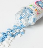 FunCakes Zuckersterne - hellblau/weiß - 60g