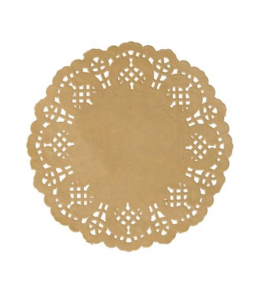 Mini-Spitzendeckchen - gold - 10 Stück