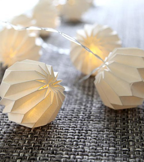 """LED-Lichterkette """"Paper Flower"""" - weiß - 2,25 m"""