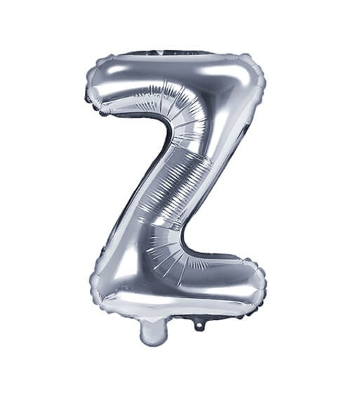 "Folienballon Buchstabe ""Z"" - silber - 35 cm"