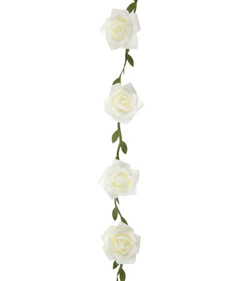 Rosen-Girlande - weiß - 1,20 m