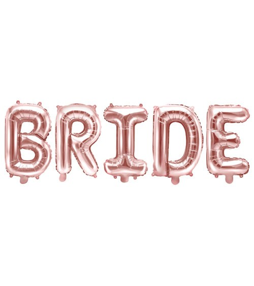 "Folienballon-Set ""Bride"" - rosegold"