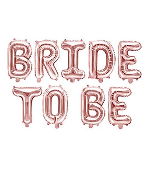 "Folienballon-Set ""Bride to Be"" - rosegold - 340 x 35 cm"