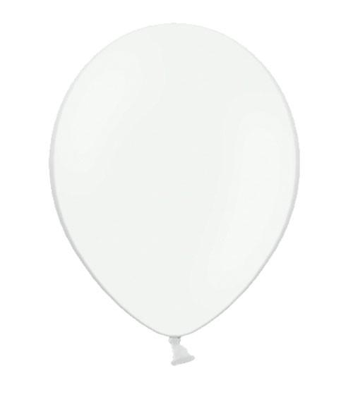 Standard-Luftballons - weiß - 10 Stück