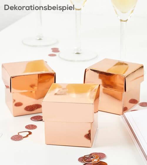 Gastgeschenkboxen - rosegold - 10 Stück