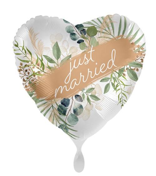 """Herz-Folienballon """"Wedding Natural Frame"""""""