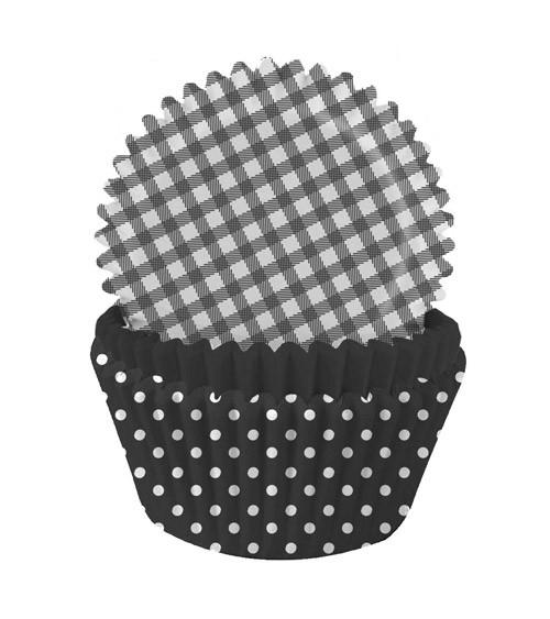 Muffinförmchen-Set - schwarz - 75 Stück
