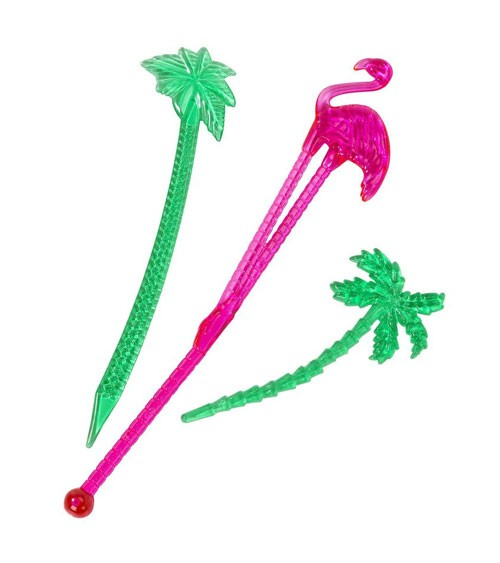 "Stirrer & Picks ""Flamingo und Palmen"" - 20-teilig"