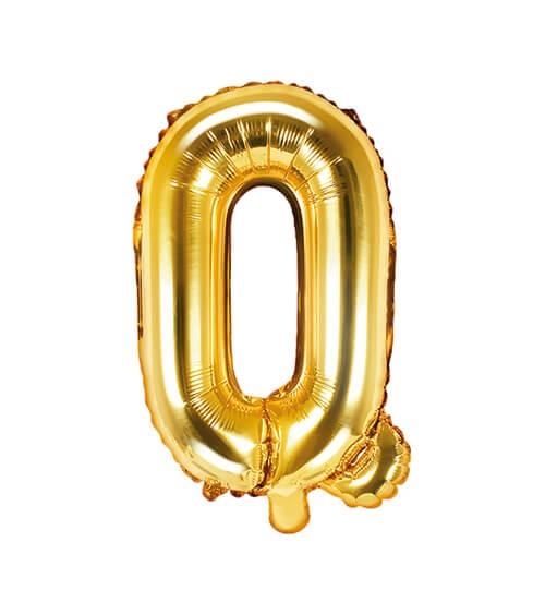"Folienballon Buchstabe ""Q"" - gold - 35 cm"
