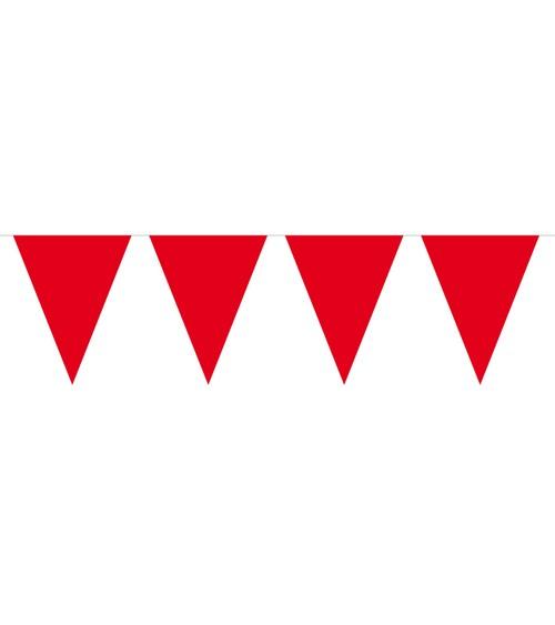 Mini-Wimpelgirlande aus Kunststoff - rot - 3 m