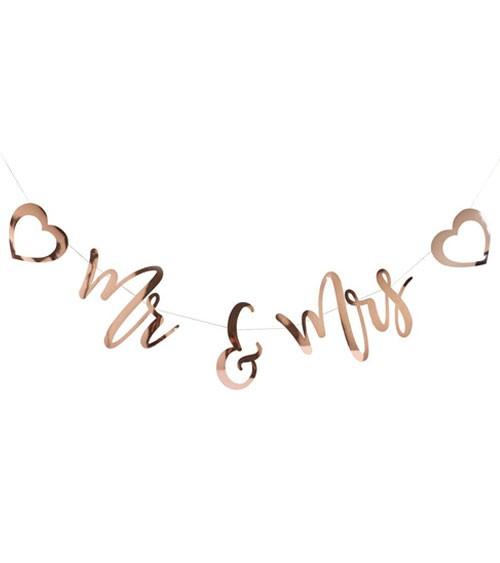 Mr & Mrs Girlande - rosegold - 2 m