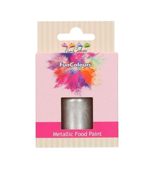 FunCakes Lebensmittelfarbe - metallic silber - 30 ml