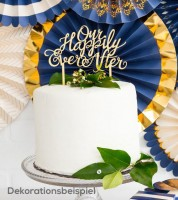 """Cake-Topper aus Acryl """"Our Happily Ever After"""" - gold"""