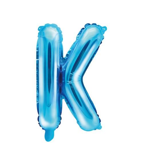 "Folienballon Buchstabe ""K"" - blau - 35 cm"