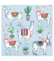 "Servietten ""Lama Fiesta"" - 16 Stück"