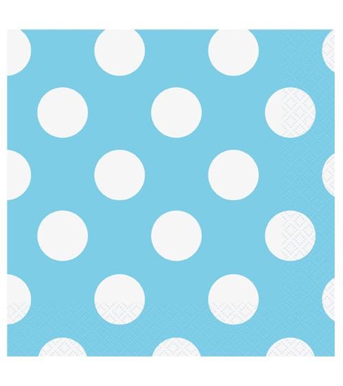 """Servietten """"Big Dots"""" - Powder Blue - 16 Stück"""