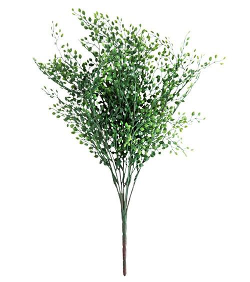 Kunststrauß mit grünen Mini-Blättern - 55 cm