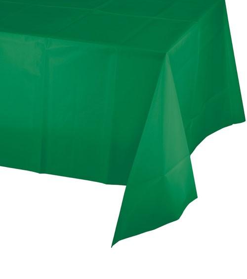 Kunststoff-Tischdecke - emerald green - 137 x 274 cm