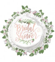 "SuperShape-Folienballon ""Love & Leaves"" - Bridal Shower - 76 x 71 cm"