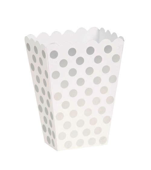 "Süßigkeitenboxen ""Big Dots"" - silber - 8 Stück"