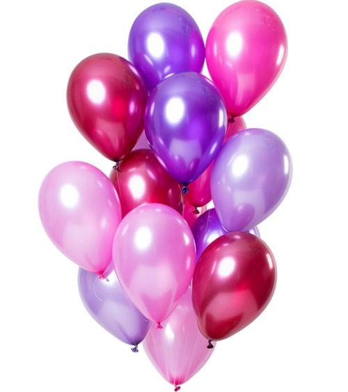 """Metallic-Luftballon-Set """"Merry Berry"""" - 15-teilig"""