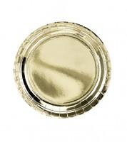 Kleine Pappteller - metallic gold - 6 Stück