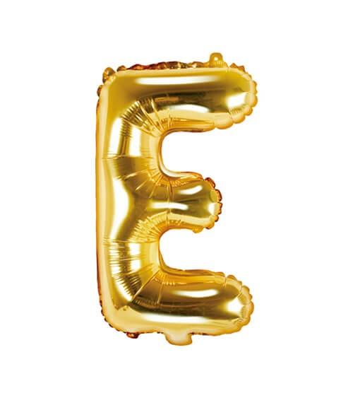 """Folienballon Buchstabe """"E"""" - gold - 35 cm"""