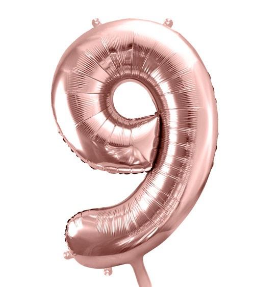 "SuperShape Folienballon ""9"" - rosegold"