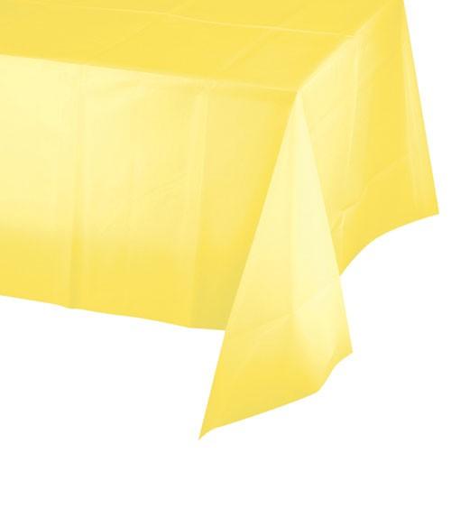 Gelbe Kunststoff-Tischdecke - 137 x 274 cm