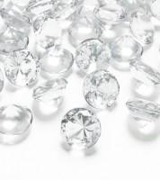 """Streudeko """"Diamant"""" - klar -  2 cm - 10 Stück"""