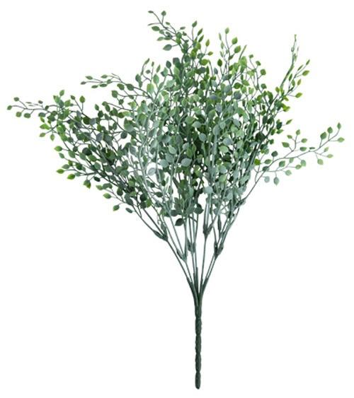 Kunststrauß mit weiß-grünen Blättern - 40 cm