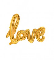 "Script-Folienballon ""Love"" - gold - 73 x 59 cm"