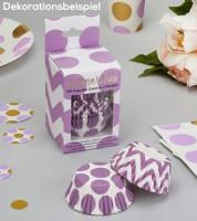 """Cupcake-Förmchen """"Chevron & Dots"""" - Lavendel - 100 Stück"""