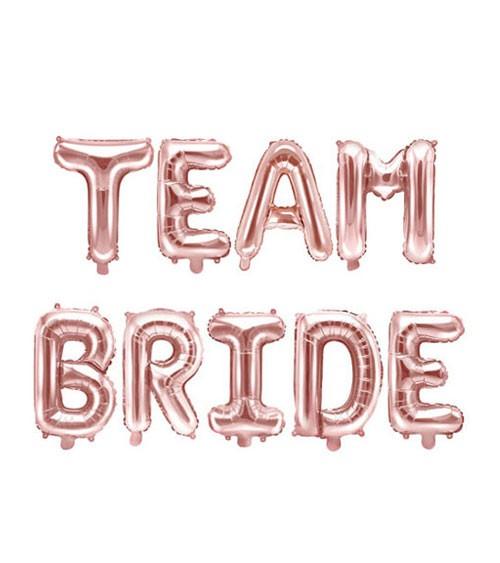 "Folienballon-Set ""Team Bride"" - rosegold"