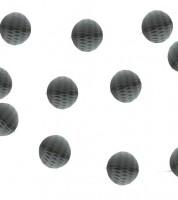 Mini-Wabenball-Girlande - 2,13 m - grau