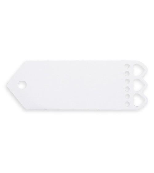 Kleine Geschenkanhänger mit Herzen - weiß - 10 Stück