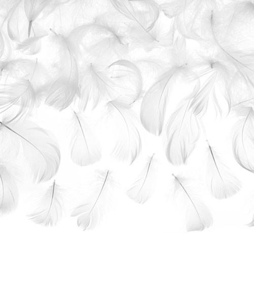 Deko-Federn zum Streuen - weiß - 4-8 cm - 3 g