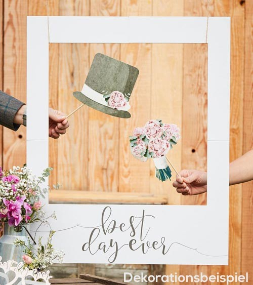 "Photobooth-Rahmen ""Best day ever"" - 60 x 72 cm"