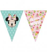 "Wimpelgirlande ""Minnie Maus Tropical"" - 2,30 m"