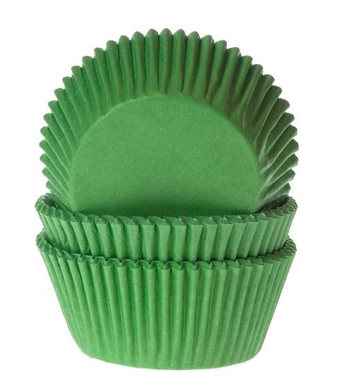"""50 Papierförmchen """"Uni""""- grün"""