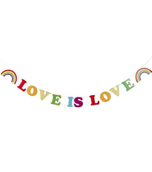 """Schriftzug-Girlande """"Love is Love"""" - bunt - 2 m"""