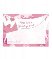 """10 Kärtchen """"Tipps für die zukünftige Braut"""""""