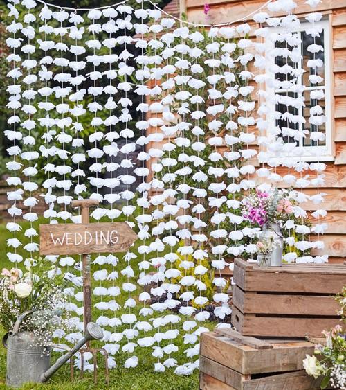 Blüten-Vorhang - weiß - 1,8 x 2 m