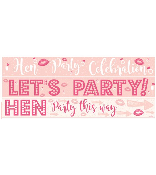 """Partybanner """"Hen Party"""" - blush/pink - 3-teilig"""