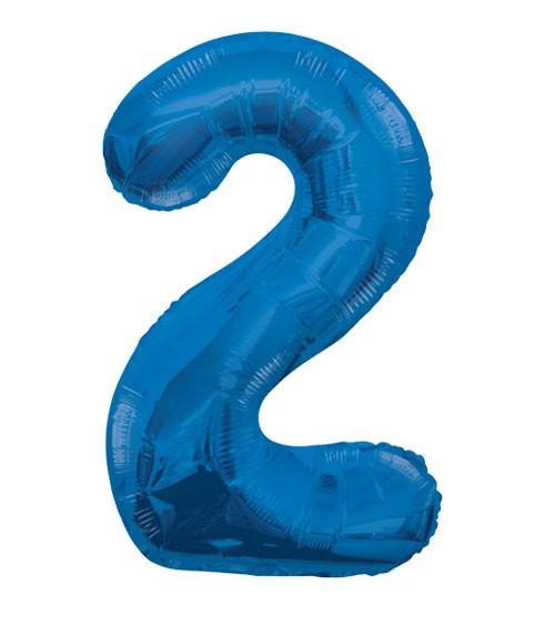 "Supershape-Folienballon ""2"" - dunkelblau"