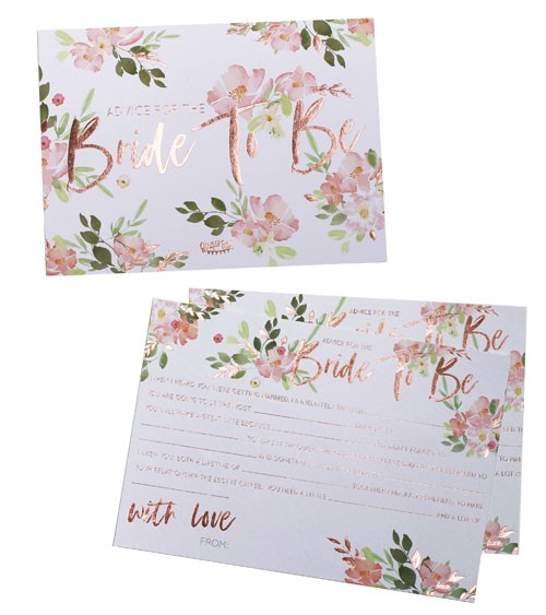 "Advice-Cards ""Florale Brautparty"" - 10 Stück"