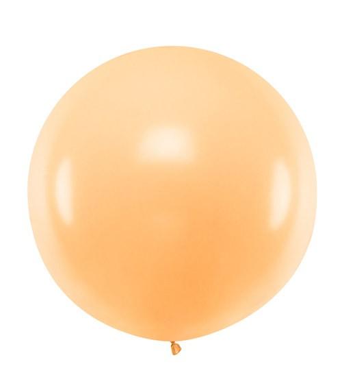 Großer Rundballon - pastell pfirsich - 60 cm
