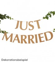 "Schriftzuggirlande ""Just Married"" - Kraftpapier - 2 m"