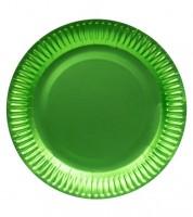 Pappteller - metallic lime green - 8 Stück