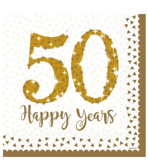 """Servietten """"50 Happy Years"""" - 16 Stück"""